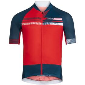 VAUDE Pro III Maglietta Uomo, rosso/blu
